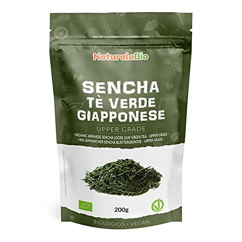 Tè verde Sencha Giapponese Biologico - Upper Grade - da 200g. 100% Bio, Naturale e Puro, Thè verde in foglie di primo raccolto coltivato in Giappone.