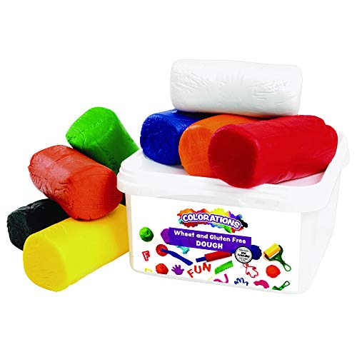 Colorations COLORDO Wheat & Gluten Free, Play Dough for Kids, 8 Bright Colors, Soft, Made in the UK, 5 1/2 Pounds Total, AP Certified, Modeling, Latex Free, Peanut Free, Egg Free