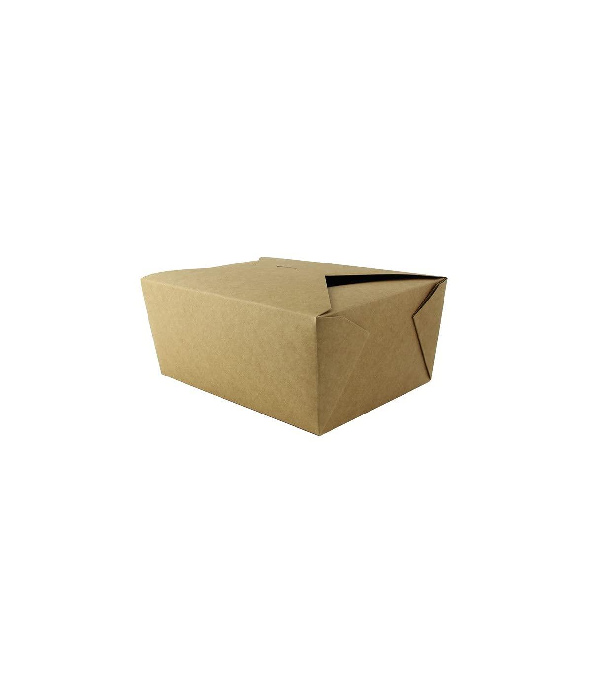 Kraft Meal Box (Case of 160), PacknWood - Biodegradable Paper Me