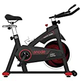 SNODE Indoor Cycling Bike - Magnetic Stationary Bike, Exercise Bike with Tablet Holder, LCD Monitor for Professional Cardio Workout, Indoor Home Cardio Exercise Training