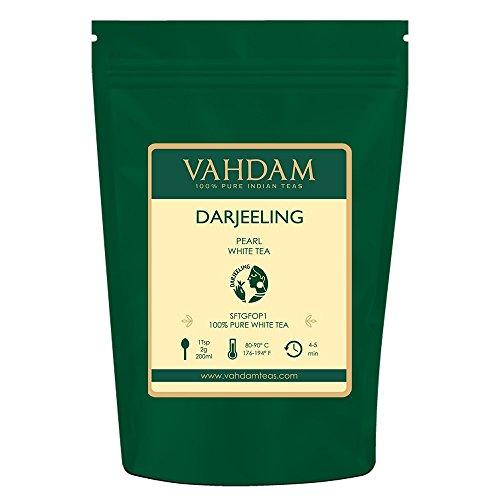 Darjeeling Pearl White Tea | Hojas sueltas de té blanco 100% puro sin mezclar | Tipo de...