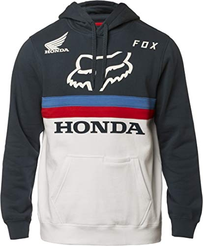 Fox Racing Honda Pullover Hoodie-Navy/White-2XL