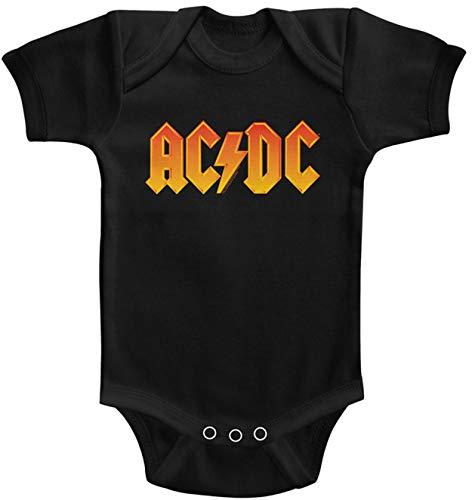 AC/DC Color Logo Strampler Strampler Gr. 0-6 Monate, Schwarz
