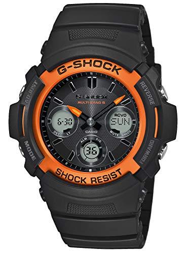 CASIO analoog heren - digitaal kwarts horloge met hars armband AWG-M100SF-1H4ER