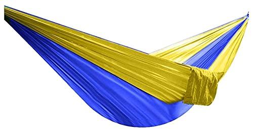 TabloKanvas Sábanas para colgar al aire libre, doble hamaca plegable, paracaídas, mochila de camping, regalos para excursionistas (color amarillo, tamaño: 102.4 x 31.5 pulgadas)
