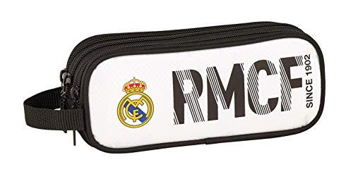 Real Madrid CF ST811854635 Estuche, Niños, Blanca/Negra, 21