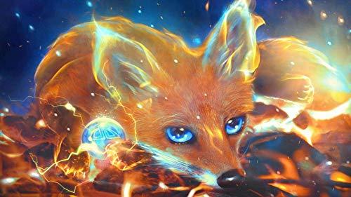 KsimYa Rompecabezas Jigsaw Puzzle, 1000 Pieces Science Fiction Blue Eyed Fox Puzzle Games Art Toys para Adultos Y Niños