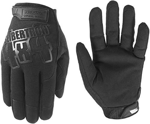 Seibertron Utility Gloves Montagehandschuhe Schutzhandschuhe Arbeits Sicherheits Mechaniker Handschuhe für Arbeiten an Autos und Lastwagen Um Finger Stauchverletzungen zu schützen (Schwarz, XL)