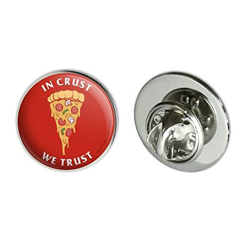 GRAPHICS & MORE in Crust We Trust Pizza Funny Humor Metal 0.75' Lapel Hat Pin Tie Tack Pinback