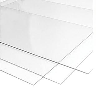 RuudraScott - Lámina acrílica transparente, lámina de metacrilato de 750 x 1000 x 3 mm (ancho x largo x grosor)