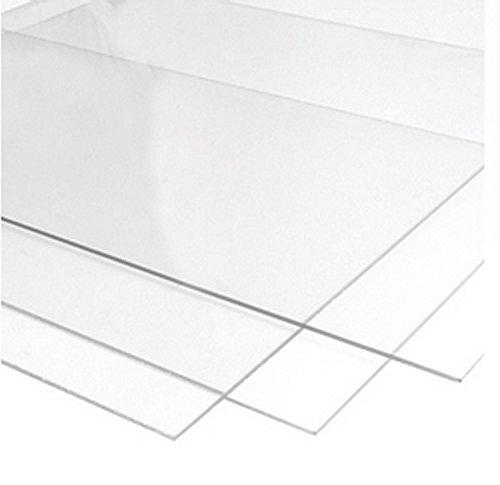 Foglio di plastica trasparente, in polimetilmetacrilato, 750 mmx 1000mm, spessore 2 mm, 3 mm, 4 mm, 5 mm, 6 mm