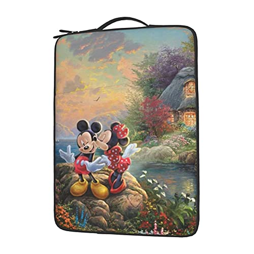 Mickey Minnie Mouse Dibujos Animados Portátil Bolsa Manga Ordenador Tablet Maletín Ultraportable Protector para 13 14 15.6 Pulgadas 15.6 '