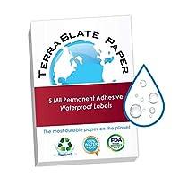 TerraSlate 5ミル 8.5インチ x 11インチ 永久防水粘着ラベル 25枚