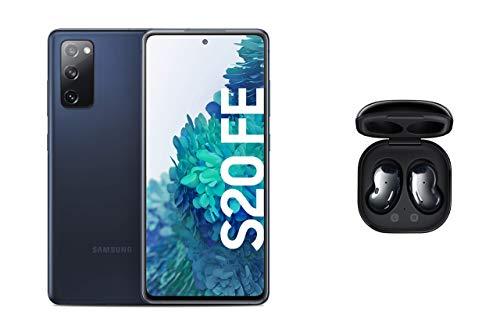 Samsung Galaxy S20 FE in Cloud Navy, Android Smartphone ohne Vertrag, 128 GB Speicher und Samsung Galaxy Buds Live, kabellose Bluetooth-Kopfhörer mit Noise Cancelling (ANC), Wireless in Mystic Black
