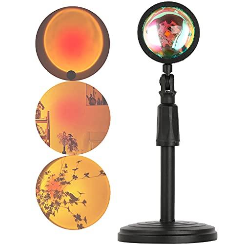 Xpassion Sunset Lamp Sunset Projection Lamp 180° Drehung USB LED Lamp Romantische Visuelle Stimmungslampe Beleuchtung Schlafzimmer Deko