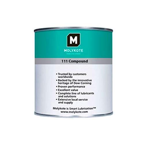 molykote 111Compound lubricante Especial, blanco, 1kg tarro, paquete de 10unidades