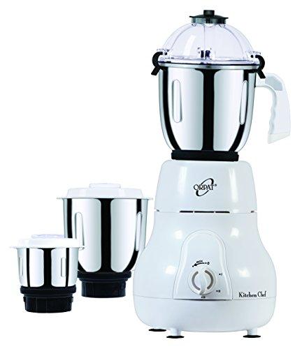 Orpat Kitchen Chef 500-Watt Mixer Grinder (White)