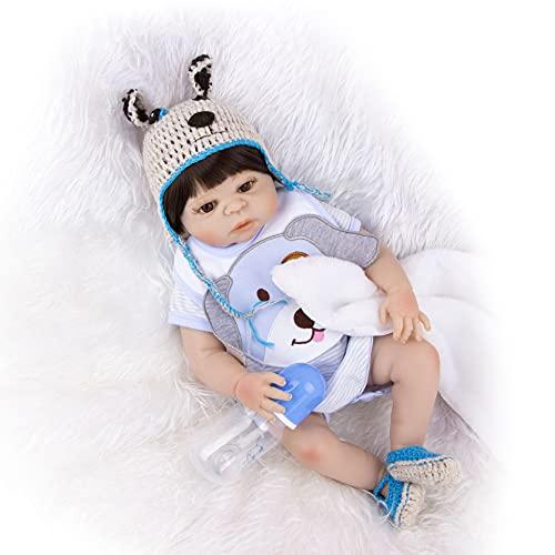 ZTLY Reborn Baby Dolls, Reborn Baby Dolls Silicone Full ODY, el Mejor Conjunto de cumpleaños Adecuado para 3 años de Edad. DURTICA DE RECOMENCIA BABY-5CM