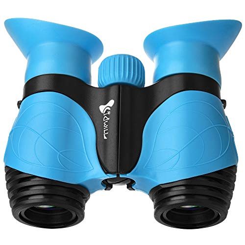 Binoculars for Kids, Gifts for 3-12 Years Boys Girls 8x21 High-Resolution Optics Shockproof Folding Mini Binoculars Toys for Bird Watching Nature Explore Travel Camping Outdoor Play (Blue)