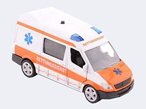 Krankenwagen Supersportwagen mit Licht und Ton 11 cm
