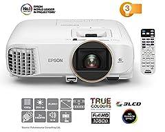 Epson EH-TW5650 3LCD Projektor (Full HD, 2500 Lumen, 60,000:1 Kontrast, 3D)