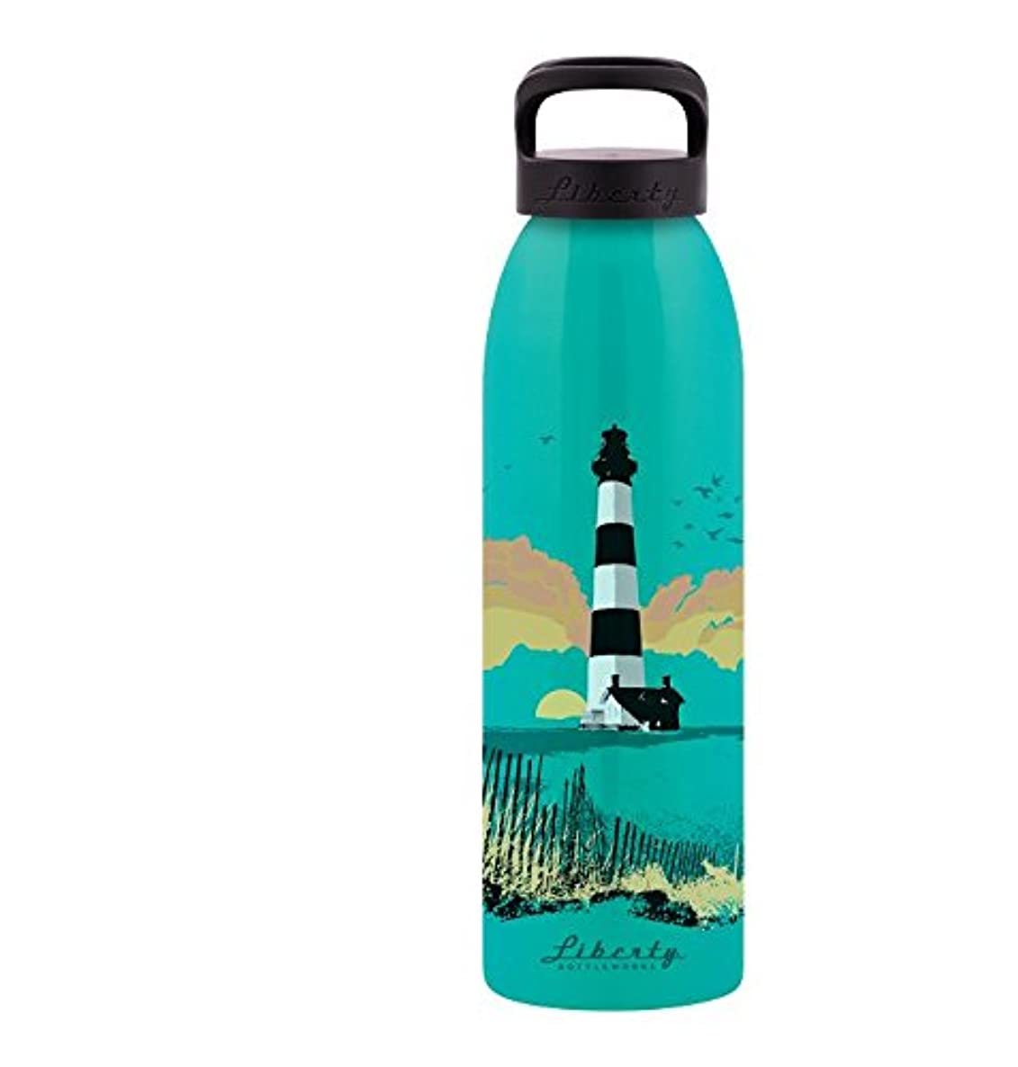 Liberty Bottleworks Beacon Aluminum Water Bottle, Made in USA, 24oz, Bermuda, Standard Cap