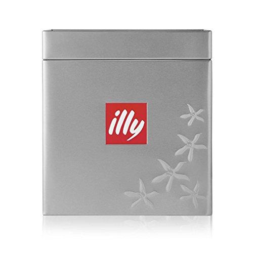 ILLY Cubo In Latta Porta Caffè Alluminio