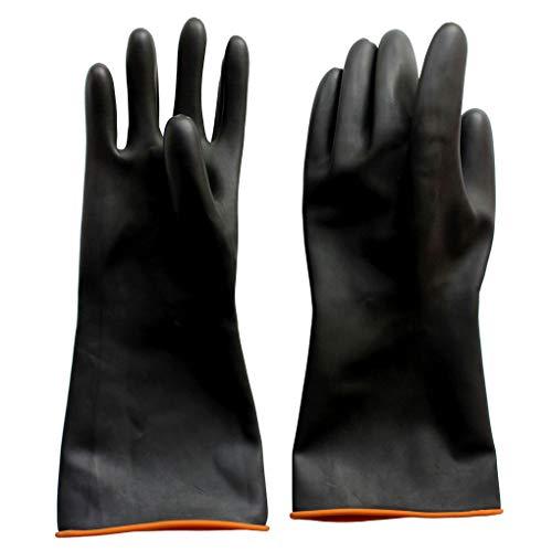 Naturgummilatex Handschuh, Eiito Industrie Anti Chemische Säure Alkali Gummihandschuhe 35cm-14inch