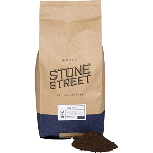Stone Street Coffee Cold Brew Reserve Coarsely Ground Coffee, 5 LB Bag, Dark Roast, Colombian