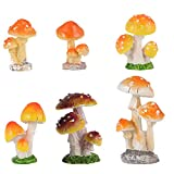 MILISTEN 6 Piezas Figuras de Setas en Miniatura Minijuego de Figuras Pastel Decoración de Paisaje de Musgo DIY Niños Niños Niñas Juguete
