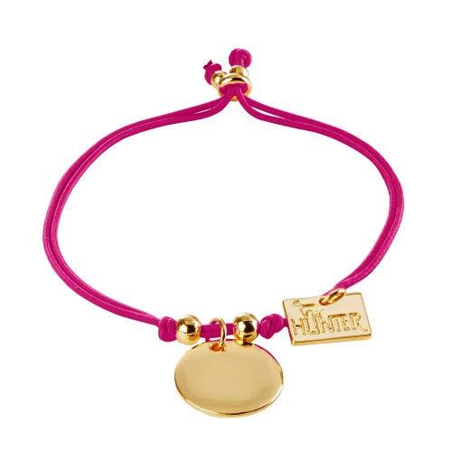 Hunter armband Arezzo, one-size goudkleurig / roze