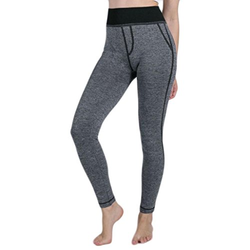 Legging de Sport Femme Taille Haute avec Poche Faux Pantalon Protection Yoga Gym Fitness Running