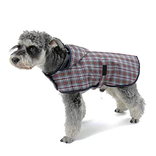 LEOFANS Haustier Hunde Regenmantel Regenjacke für Kleine Mittlere Hunde mit 4 Größen Wasserdicht (L)