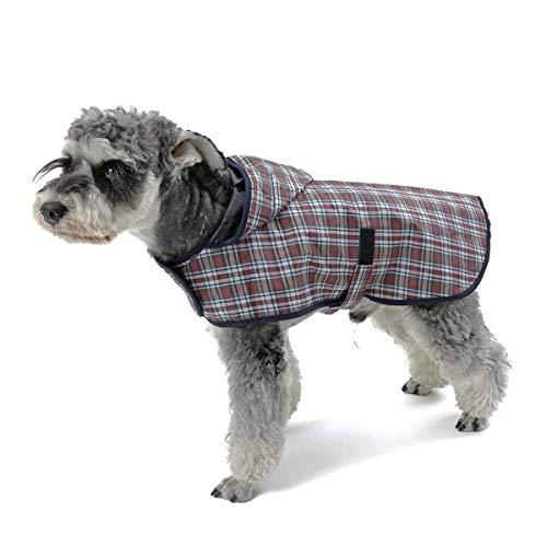 LEOFANS Haustier Hunde Regenmantel Regenjacke für Kleine Mittlere Hunde mit 4 Größen Wasserdicht (M)