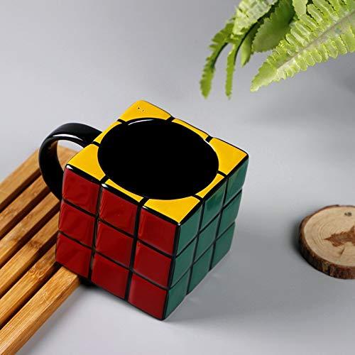 baporee Taza de cerámica Creativa con Forma de Cubo de Rubik 301 400ml Fer 5