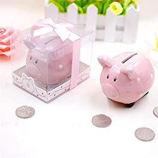 KOHIENWO Piggy Bank Ceramic Pig Money for Boys Girls Makes a Perfect Unique Gift, Nursery Décor, Keepsake, or Savings Piggy Bank for Kids Gift Box