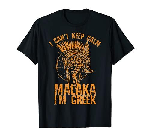 Malaka I Am Greek  orgulloso de los griegos Spartaner Camiseta
