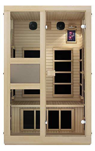 JNH Lifestyles NE2HB1 ENSI Collection 2 Person NO EMF Infrared Sauna Limited