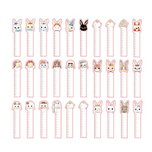 Tcplyn Premium Quality Cute Rabbit Bookmark Bunny Bookmark Reading Study Diary Decoration, 30 Pcs/Set