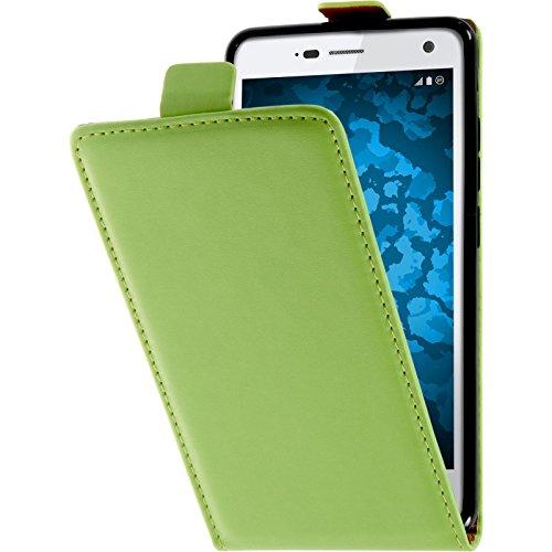 PhoneNatic Kunst-Lederhülle kompatibel mit ZTE Blade L3 - Flip-Hülle grün Cover