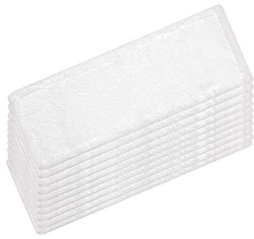 HELOME 10x Microfasermöppe für Haushalt und Gewerbe | Wischbezüge für 40cm Mopphalter | Taschenbezüge für professionelle Reinigung | bis 90 Grad und für Trockner