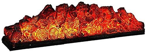 L.BAN Estufa eléctrica panorámica.Calefacción por Chimenea Independiente.Calefacción Interna con Llama de leña 220V