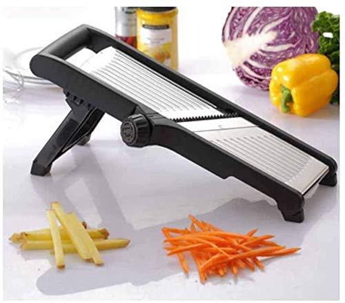 Adjustable Mandoline Slicer Professional Grade Julienne Slicer Stainless Steel Best for Slicing Food Fruit and Vegetables for Fruits from Paper-Thin to 9Mm Iteration