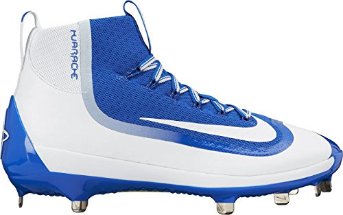 Nike Air Huarache 2K Filth Elite Mid Mens Baseball Shoes Royal/White 8