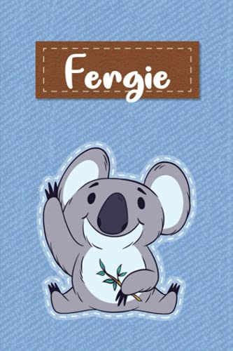 Fergie: Lined Writing Notebook for Fergie With Cute Koala, 120 Pages, 6x9