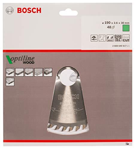 Bosch Pro Kreissägeblatt Optiline Wood zum Sägen in Holz für Handkreissägen (Ø 190 mm) - 2