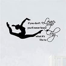 BEIKE Vinyl Wall Art Sticker Decal Girls Gymnast Bedroom Decor 10045Cm