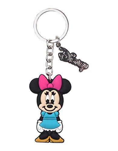 Bioworld Disney Minnie Mouse Rubber Keychain breloczek do kluczy 16 centymetrów wielokolorowy (wielokolorowy)