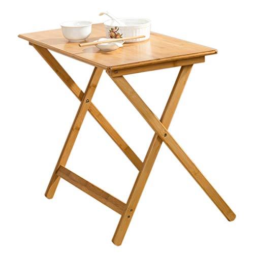 AMZH Mesa Plegable portátil - Hecho a Mano Mesa de bambú Simple - Textura Clara y Dura Mesa de Comedor para el hogar Cómodo y práctico sin ocupar Espacio 70 * 40cm Table