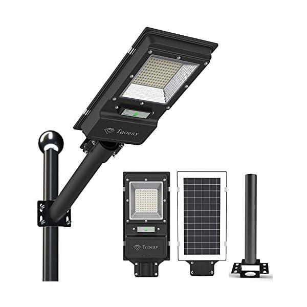 Taoesy 6000 Lumens Solar Street Lights Outdoor Dusk to Dawn with Motion Sensor Solar Street Lamp,120 LEDs Light with…